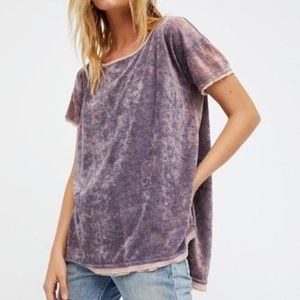 Free People Oversized Velvet Doren Washed Tee